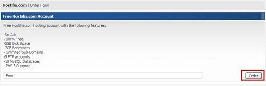 hostifia.com免费空间5GB/7GB/DA(iPanel Billing System系统空间申请教程)