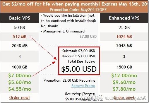 堪萨斯 $4.55/月送DA 50GB 1.0TB VIRPUS优惠信息