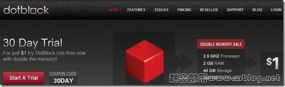 dotblock.com:$1/月 2GB/40GB/500GB/2.5GHz
