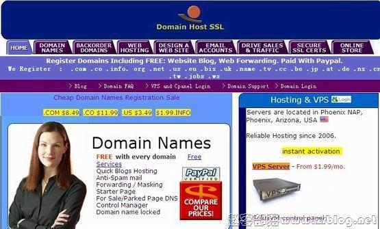 CheapDomainNamesDot:$1.2/月OpenVZ-128MB/5G SSD/250GB 洛杉矶