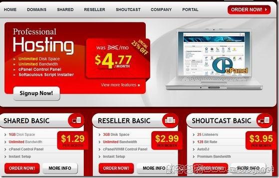 GWebServices:首月1美元 1GB/2GB/80GB/8TB 德国