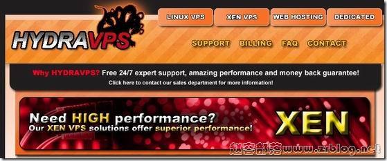 HYDRAVPS:$3/月256MB/20GB/200GB 奥兰多