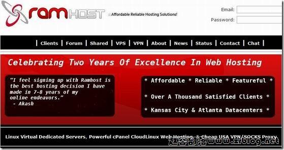 RamHOST-KVM上线:$4.99/月 256MB/7GB/200GB 洛杉矶
