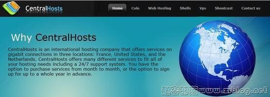 CentralHosts:$4.5/月XEN-256MB/40GB/无限流量 洛杉矶&荷兰&法国