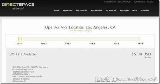 DSVPS:$5/月512MB/1024MB/20GB/1TB/2 IPs大量上货(洛杉矶/波特兰)