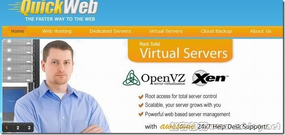 QuickWeb:$2.48/月OpenVZ-1GB/10G SSD/1TB 凤凰城