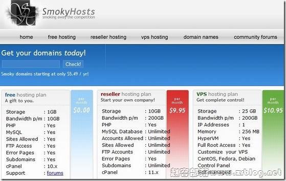 SmokyHosts:首月1美元/256MB/25GB/200GB/OpenVZ