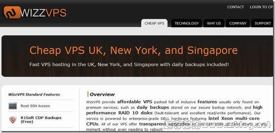 WizzVPS:$9.95/月 160MB/10GB/150GB 新加坡
