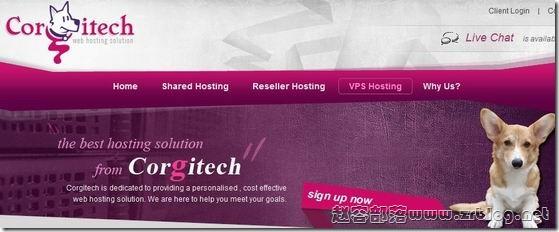 CorgiTech:$6/月OpenVZ-512MB/20GB/1000GB 洛杉矶&纽约