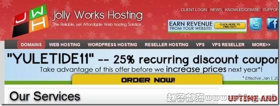 JollyWorksHosting:$4.95/月OpenVZ-512MB/1GB/40GB/400GB 凤凰城