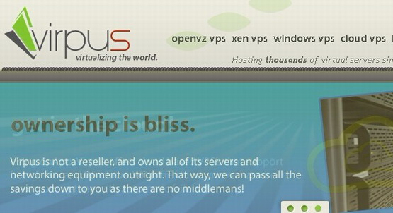 VIRPUS:$3.2/月OpenVZ-512MB/1024MB/40GB/1000GB/2 IPs 堪萨斯