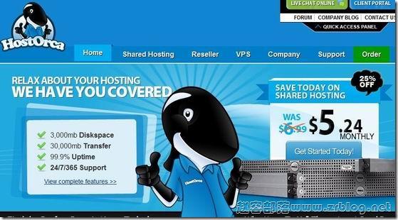 HostOrca:$6/月OPenVZ-384MB/768MB/25GB/200GB 达拉斯&纽约