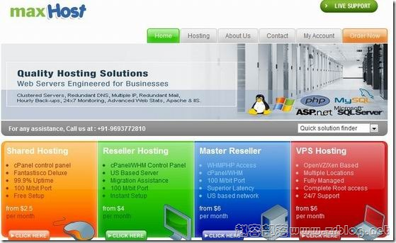 MaxHost:$18/年OpenVZ-128MB/256MB/20GB/100GB 凤凰城