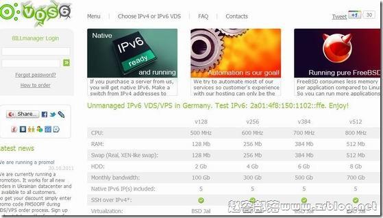 VDS6:$1.48/月-128MB/4GB/100GB 乌克兰