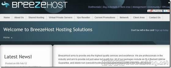 Breezehost:$4.76/月OpenVZ-512MB/1024MB/10GB/250GB 达拉斯