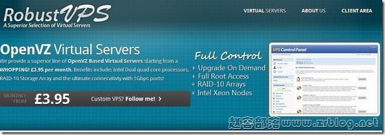 RobustVPS:£2.66/月OpenVZ-512MB/1GB/15GB/1.6TB 凤凰城