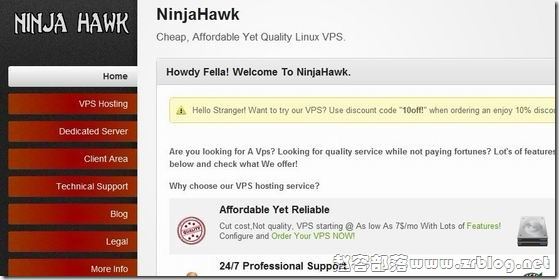 NinjaHawk:$7/月KVM-512MB/25GB/500GB 坦佩