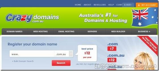 CrazyDomains:免费.asia域名1年