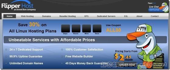 FlipperHost:$2.9/月OpenVZ-1GB/25GB/5TB 洛杉矶