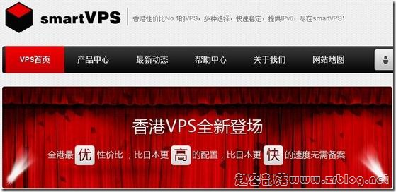 smartVPS:79元OpenVZ-512MB/20GB/无限香港VPS