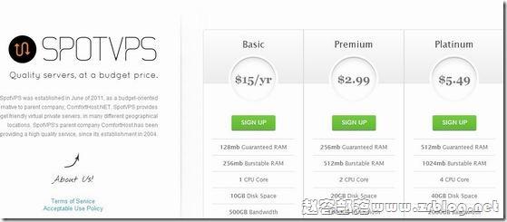 SpotVPS:$11/年OVZ-256MB/512MB/15GB/500GB 四数据中心