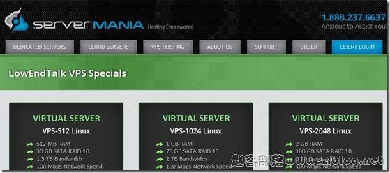 【黑五】ServerMania:$45/月-E3 1240v2/16GB/1TB/20TB 纽约