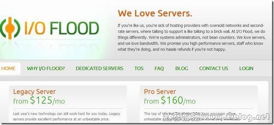 IOFLOOD:$79/月-E3 1230v2/16GB/2x512G SSD/100TB/5IP/凤凰城