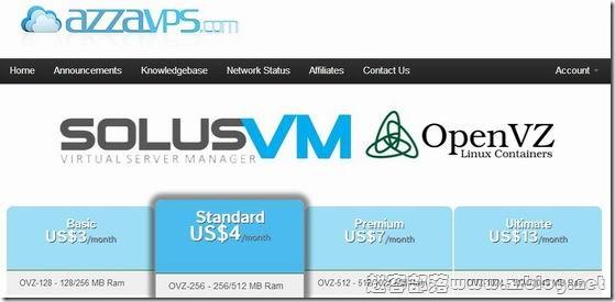 AzzaVPS:$1.25/月OpenVZ-256MB/5GB/20M无限 圣路易斯