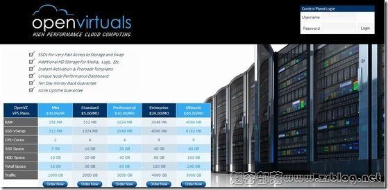 OpenVirtuals:$20/年OpenVZ-512MB/180GB/2TB 五数据中心