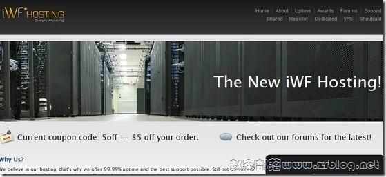 [服务器]iWFHosting:$59/月-Dual L5520/32GB/250GB SSD/10TB 洛杉矶