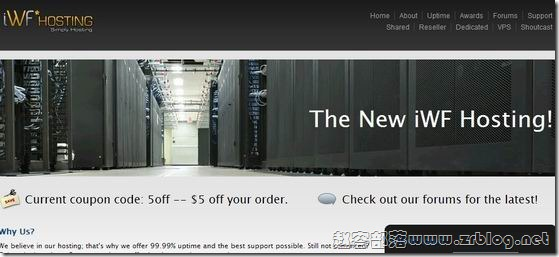 iWFHosting高配服务器189美元-Dual E5-2680v2,192G内存,4x2TB硬盘,20TB月流量