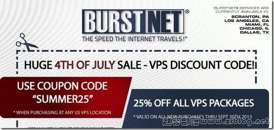 Burst:$4.46/月OpenVZ-512MB/20GB/1000GB 五数据中心