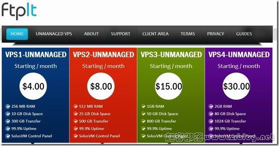 Ftpit:$1.49/月OpenVZ-512MB/10G SSD/1TB 洛杉矶&纽约