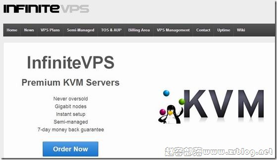 InfiniteVPS:$2.9/月KVM-256MB/20GB/500GB 堪萨斯