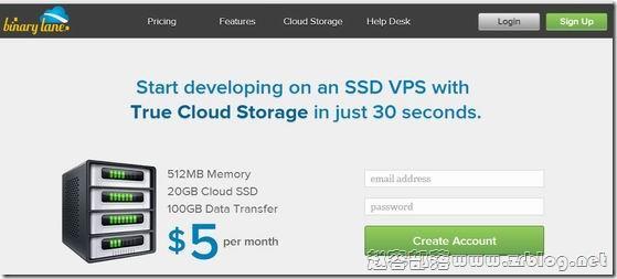 BinaryLane:$5/月KVM-512MB/20G SSD/100GB 澳大利亚