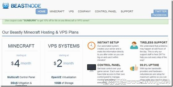 BeastNode:$3.5/月OpenVZ-512MB/30G SSD/2TB 洛杉矶&纽约