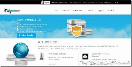 Sharktech:洛杉矶/1G无限流量/189美元/E5 2670/32GB/2TB/高防服务器