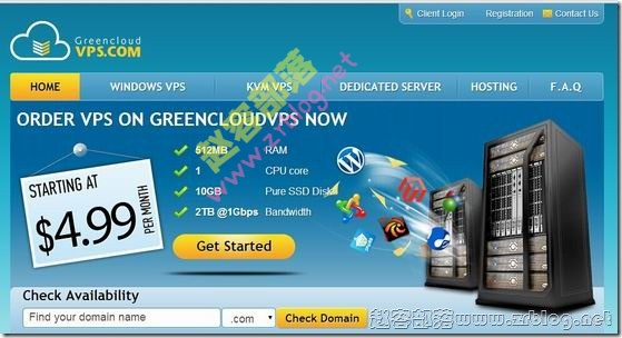 GreenCloudVPS:$18.1/季KVM-1GB/250GB/1TB 洛杉矶
