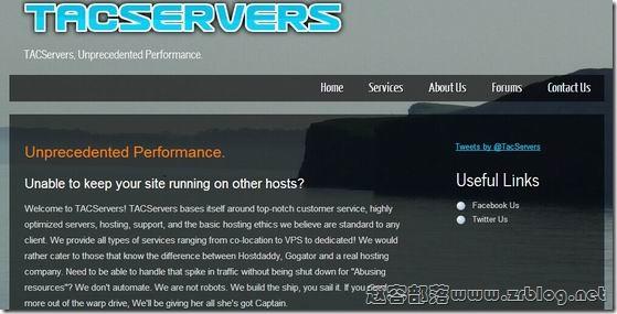 TACServers:$2/月OpenVZ-256MB/30GB/150GB 丹佛