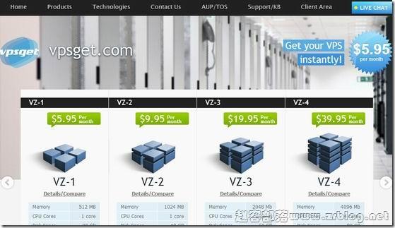 VPSGet:$30.5/年OpenVZ-512MB/20GB/100M无限 荷兰