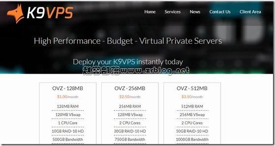 K9VPS:$5.94/年OpenVZ-128MB/10GB/500GB 洛杉矶