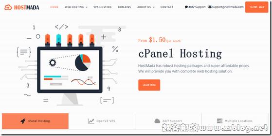 HostMada:$4.2/月OpenVZ-512MB/50GB/3M无限 香港