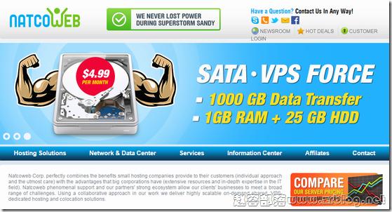 NatcoWeb:$2/月KVM-1GB/25GB/1000GB 新泽西