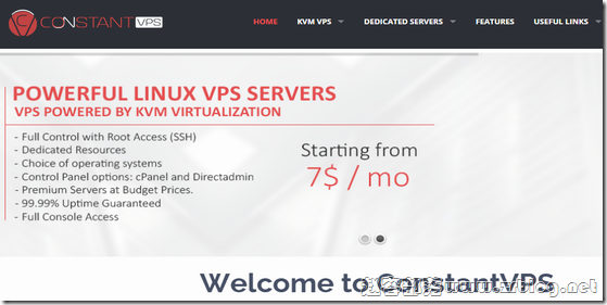 ConstantVPS:$8.25/月KVM-1GB/20GB/2TB 荷兰