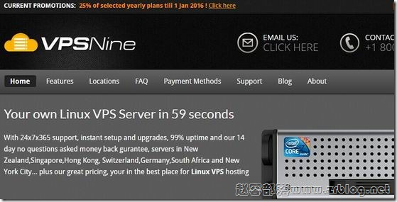 VPSNine:$7/月OpenVZ-256MB/30GB/400GB 香港SL