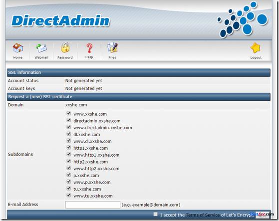 [转]DirectAdmin自动签发Let's Encrypt免费证书还可自动更新