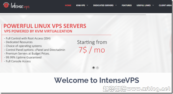 IntenseVPS:$5/月KVM-768MB/25GB/1TB 荷兰