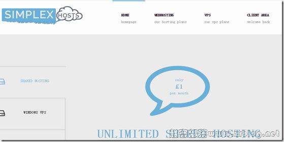 Simplexhosts:£2.5/月KVM-512MB/17GB/100M无限 北卡