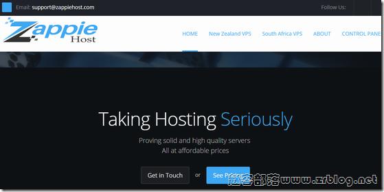 ZappieHost:$2.25/月OpenVZ-512MB/30GB/200GB 新西兰&南非