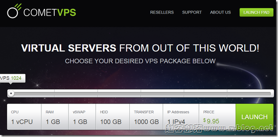 CometVPS:$5/月OpenVZ-1GB/100GB/1TB 芝加哥&纽约